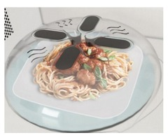 Magnetic Microwave Splatter Lid with Steam Vents Microwave Splatter Lid Cover Hover Cover Anti-Sputt