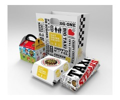 Create your design and get Burger Packaging Wholesal