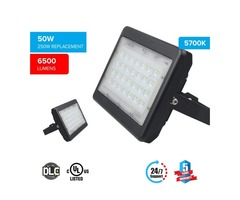 LED Floodlight With Yoke Mount, 50W (250W Equivalent), 6500 Lumen, 5700K