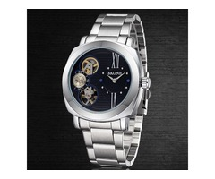 Hardlex Semi-automatic Bilateral Buckle Mens Quartz Watch