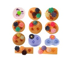 Chocolate Jelly 3D Mold Mini Silicone Fondant DIY Flower Cake Mold Creative Baking Accesseries