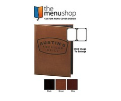 Best-Quality Two View Leather Menu Cover | The Menu Shop