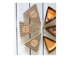 Get Eco Friendly Pie slice boxes Wholesale At iCustomBoxes.