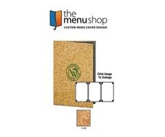 High-Quality Cork Menu Covers for restaurant | The Menu Shop