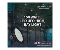 Install (150W LED UFO High Bay Light) To Manage Industrial Work Easily