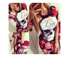 Skull mini dress