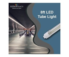 8ft LED Tube Lights are Good Replacement for Fluorescent Tubes