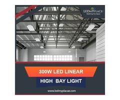 Install (LED Linear High Bay Lights) For Big Commercial Places