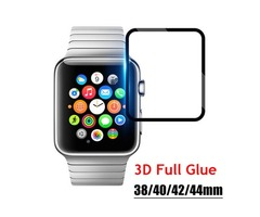 3D Curved Full Glue Tempered Glass For Apple Watch iwatch 1/2/3/4 38mm 42mm 40mm 44mm Black Screen P