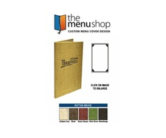Best One View Rattan Menu Covers for Restaurant | The Menu Shop