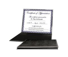 Buy Diploma Folder, Leather Certificate Holder, Padded Certificate Holder