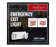 Install (Emergency Exit Light) To Make Your Building Safe