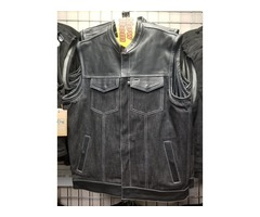 Motorcycle Denim Vest