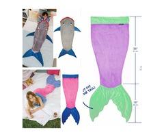 Mermaid Shark Tail Sleeping Bags Ins Kids Winter Bed Swaddle Kids Cartoon Blankets Fashion Wrap Hot
