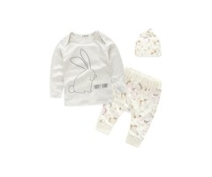 Pure Cotton Home Wear Babys 3-Piece Outfit