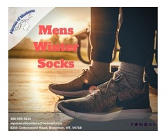 Mens Winter Alpacas Socks - Alpacas of Montana
