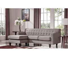 Divani Casa Tawny Modern Fabric Sofa & Ottoman Set - Get.Furniture