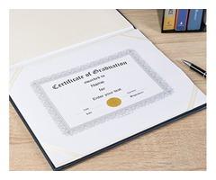Buy Diploma Holders, Certificate Holders, Certificate Covers & Folders