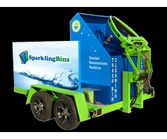 Trailer Mounted Trash Bin Cleaners