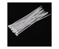 500pcs Milk White Nylon Cable Ties Zip Ties 2.7mmx150mm/200mm