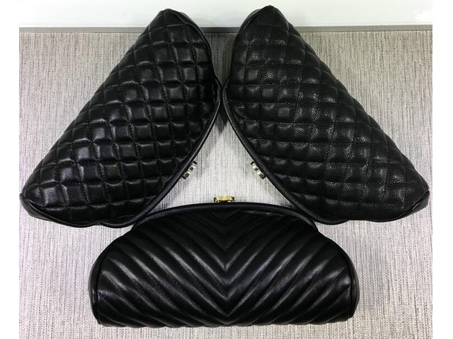 351178 7004 351178 Black Lambskin Caviar Leather Clutch Bag Evening Party Bag Timeless Quilted Clutc | free-classifieds-usa.com