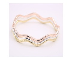 Fashion waves of the bangles Very nice curves Bangles Lovely lady corrugated metal bangles for women