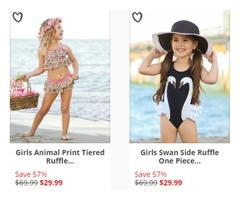 Baby Girl Rash Guard Swimwear