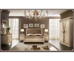 Fantasia Night Bedroom Set in Gold & Beige - Get.Furniture
