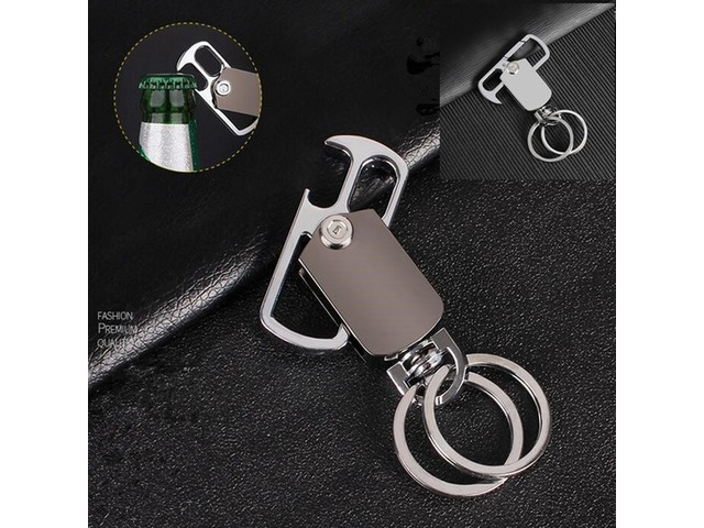 car key ring Beer bottle opener men car multi-function key ring opener rotating waist hanging key ch | free-classifieds-usa.com
