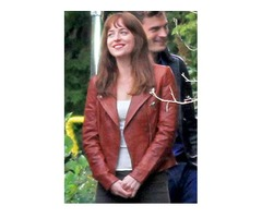 Dakota Johnson Fifty Shades Of Grey Real Cowhide Leather Jacket