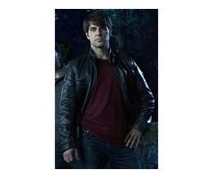 David Giuntoli Grimm Black Real Sheep Skin Leather Jacket