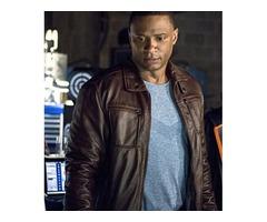 David Ramsey Arrow Dark Brown Real Cowhide Leather Jacket