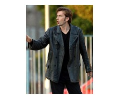 David Tennant Doctor Who Black Real Cowhide Leather Coat