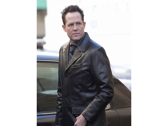 Dean Winters Brooklyn Nine Nine Black Real Cowhide Leather Coat | free-classifieds-usa.com