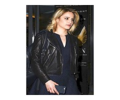 Dianna Elise Agron Real Cowhide Leather Jacket