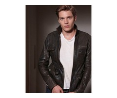 Dominic Sherwood Vampire Academy Dark Brown Real Cowhide Leather Jacket | free-classifieds-usa.com