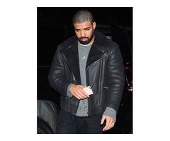 Drake Black Real Cowhide Leather Jacket | free-classifieds-usa.com