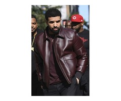 Drake Maroon Real Cowhide Leather Jacket | free-classifieds-usa.com