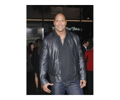 Dwayne Johnson Faster Black Real Cowhide Leather Jacket | free-classifieds-usa.com