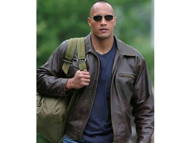 Dwayne Johnson Walking Tall Dark Brown Real Cowhide Leather Jacket | free-classifieds-usa.com