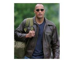 Dwayne Johnson Walking Tall Dark Brown Real Cowhide Leather Jacket