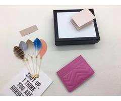 Hot selling luxury brand women zero wallet water ripple card bag genuine leather bag Luxury bags
