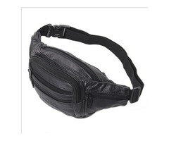Good Quality Leather waist pouch large waist bag leather bag Fanny pack sports bag 5 pockets