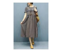 Tidebuy Japanese Regular Womens A-Line Dress