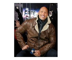 Dwayne Johnson The Fate Of The Furious Real Cowhide Leather Jacket