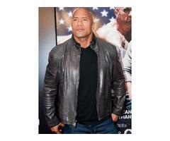 Dwayne Johnson Real Cowhide Leather Jacket