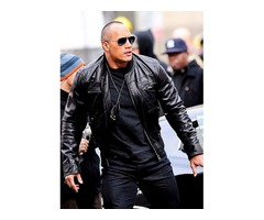 Dwayne Johnson The Other Guys Real Cowhide Leather Jacket