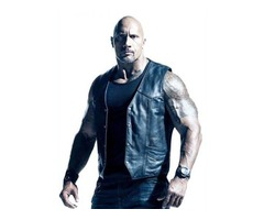 Dwayne Johnson The Fate Of The Furious Real Cowhide Leather Vest