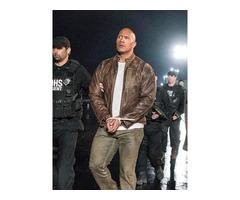 Dwayne Johnson Rampage Real Distressed Cowhide Leather Jacket