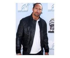 Dwayne Johnson Real Sheep Skin Leather Jacket